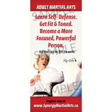 "Adult Martial Arts 4""x9"" Take-One's (Concept 1)"