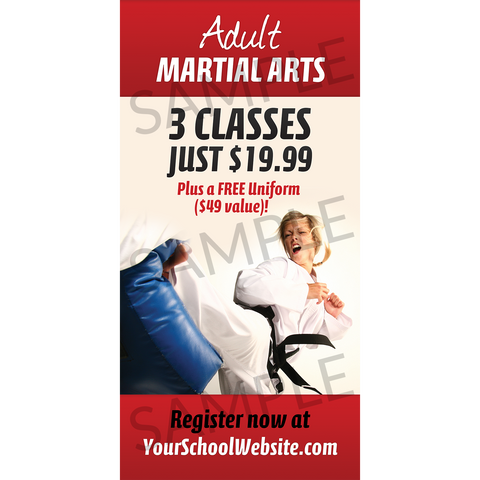 Adult Martial Arts Window Cling (Concept 1)