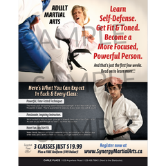 Adult Martial Arts Full Page (Concept 1)