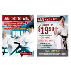 "Adult Martial Arts 3""x4"" Ad Cards (Concept 2)"