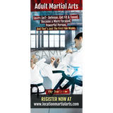 "Adult Martial Arts 4""x9"" Take-One's (Concept 2)"