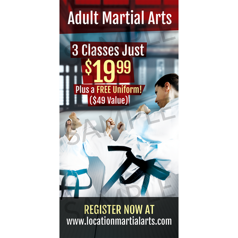 Adult Martial Arts Window Cling (Concept 2)