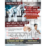 Adult Martial Arts Full Page (Concept 2)