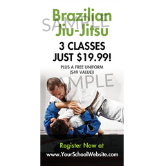 Brazilian Jiu Jitsu Window Cling
