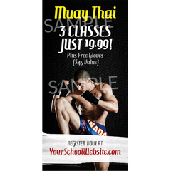 Muay Thai Outdoor Banner