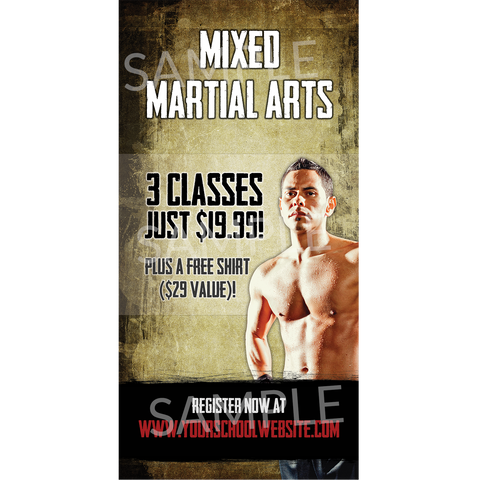 Mixed Martial Arts Window Cling