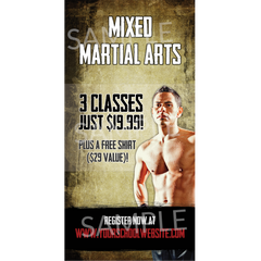 Mixed Martial Arts Outdoor Banner