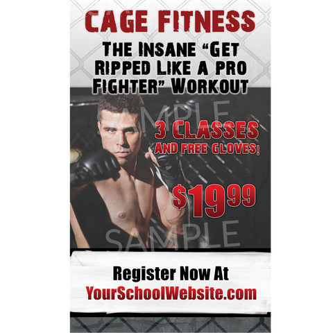Cage Fitness Window Cling