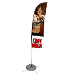 Krav Maga Feather Flag - Concept 1