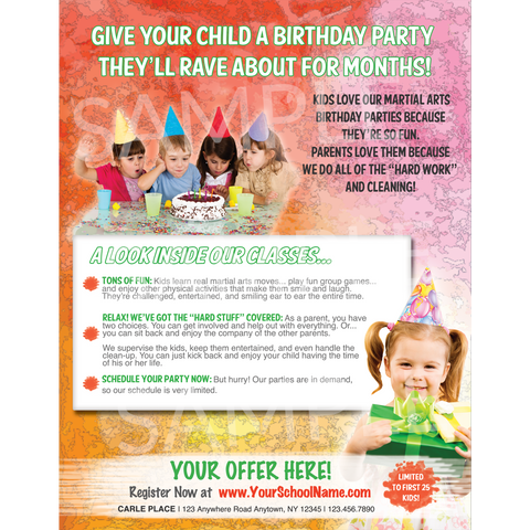 Birthday Parties Full Page