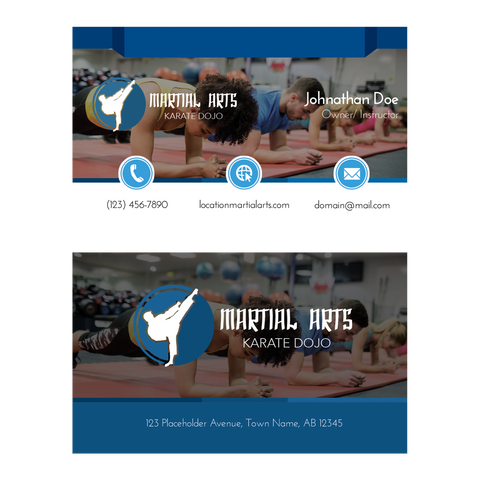 Concept 5- Business Cards- Fitness