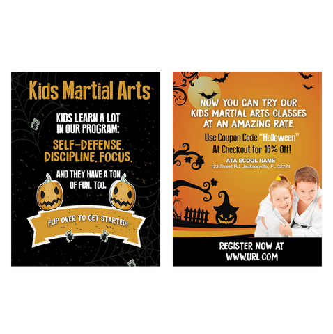 "Kids MA - Halloween 3""x4"" Ad Cards (Concept 2)"