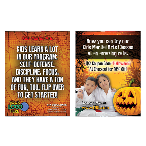 "Kids MA - Halloween 3""x4"" Ad Cards (Concept 1)"