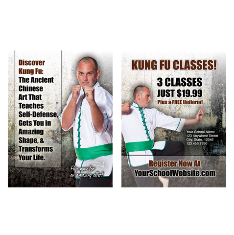 "Mens Kung Fu 3""x4"" Ad Cards"