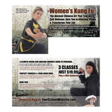 "Womens Kung Fu 6""x11"" Postcards"