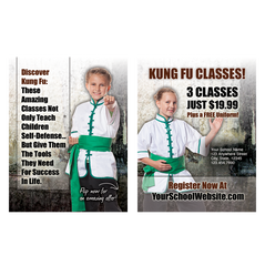"Kids Kung Fu 3""x4"" Ad Cards"