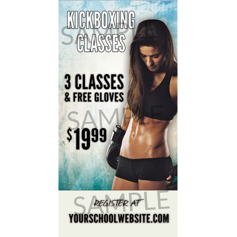 Kickboxing Outdoor Banner