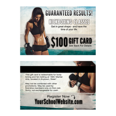 $100 Kickboxing Gift Cards