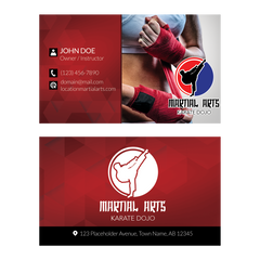 Concept 1- Business Cards- Kickboxing