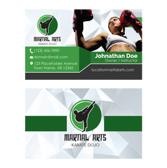 Concept 4- Business Cards- Kickboxing