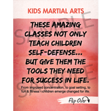 "Kids Martial Arts 3""x4"" Ad Cards (Concept 1)"