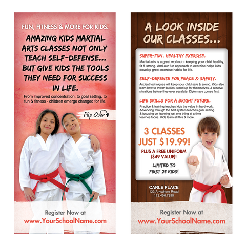 "Kids Martial Arts 4""x9"" Take-One's (Concept 1)"