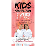 Kids Martial Arts Window Cling (Concept 1)