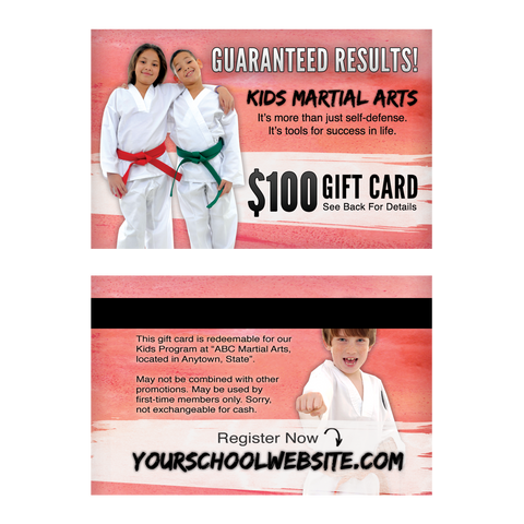 $100 Kids MA Gift Cards