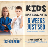 Kids Martial Arts Window Cling (Concept 2)