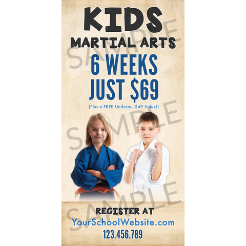 Kids Martial Arts Outdoor Banner (Concept 2)