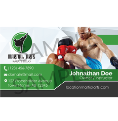 Concept 4- Business Cards- Muay Thai