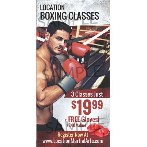 Boxing Window Cling