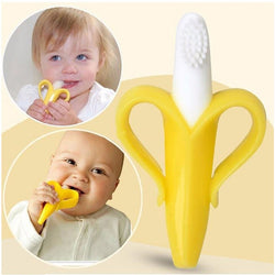 Baby Banana Teether and Toothbrush Ring