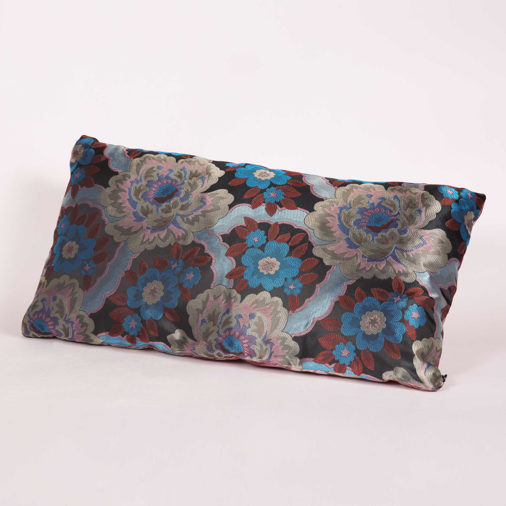Blue Foral Custom Pillow