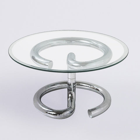 1970's Anaconda Glass & Chrome Paul Tuttle Coffee Table