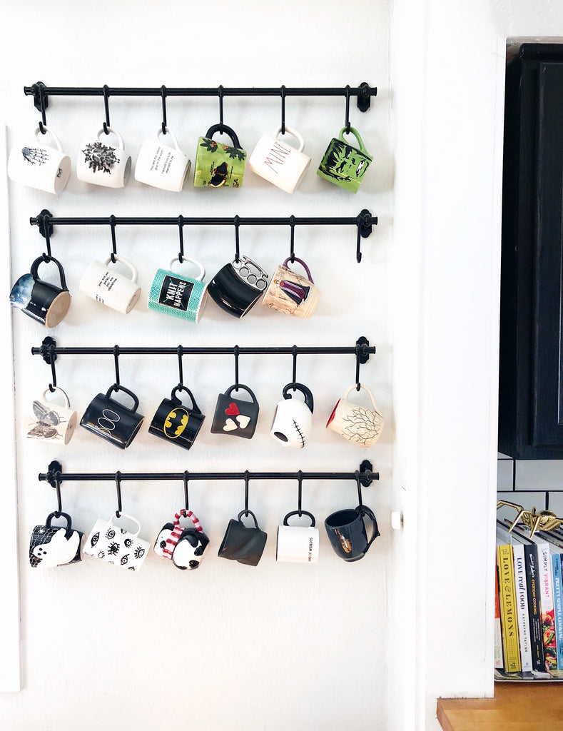 Display What You Love! DIY Coffee Mug Wall Rack