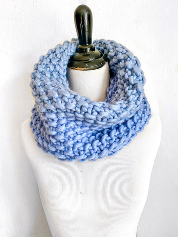 Merino Bubble Fluff Cowl in Periwinkle