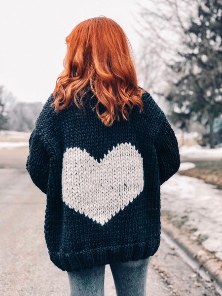 MADE TO ORDER : Heart U Back Cardigan Sweater