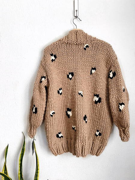 MADE TO ORDER : Leopard Print Cardigan Sweater
