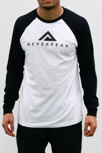 White/Black Baseball Tee