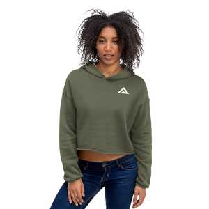 Military Green Cropped Hoodie