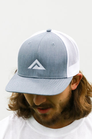 Heather Grey/White Snapback
