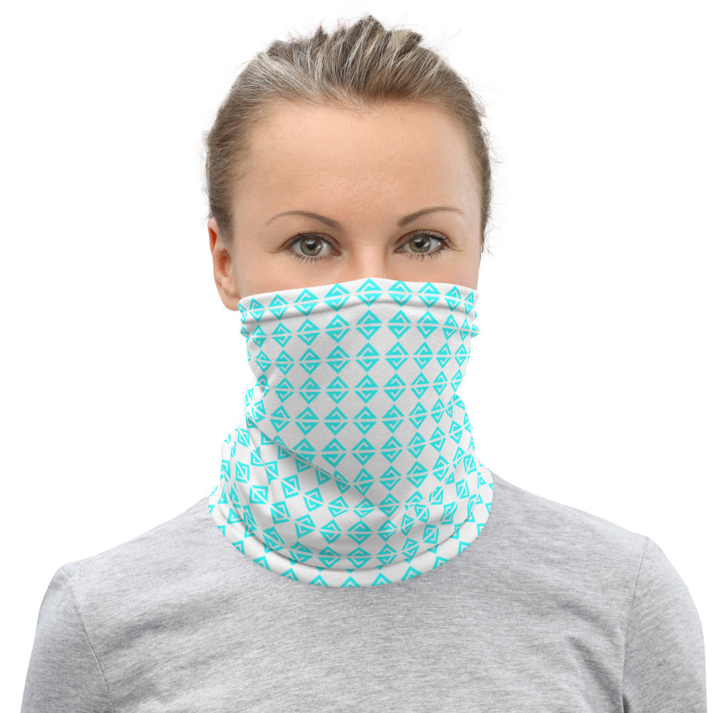 White/Blue Neck Gaiter