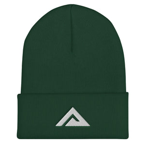Spruce Green/White Cuffed Beanie
