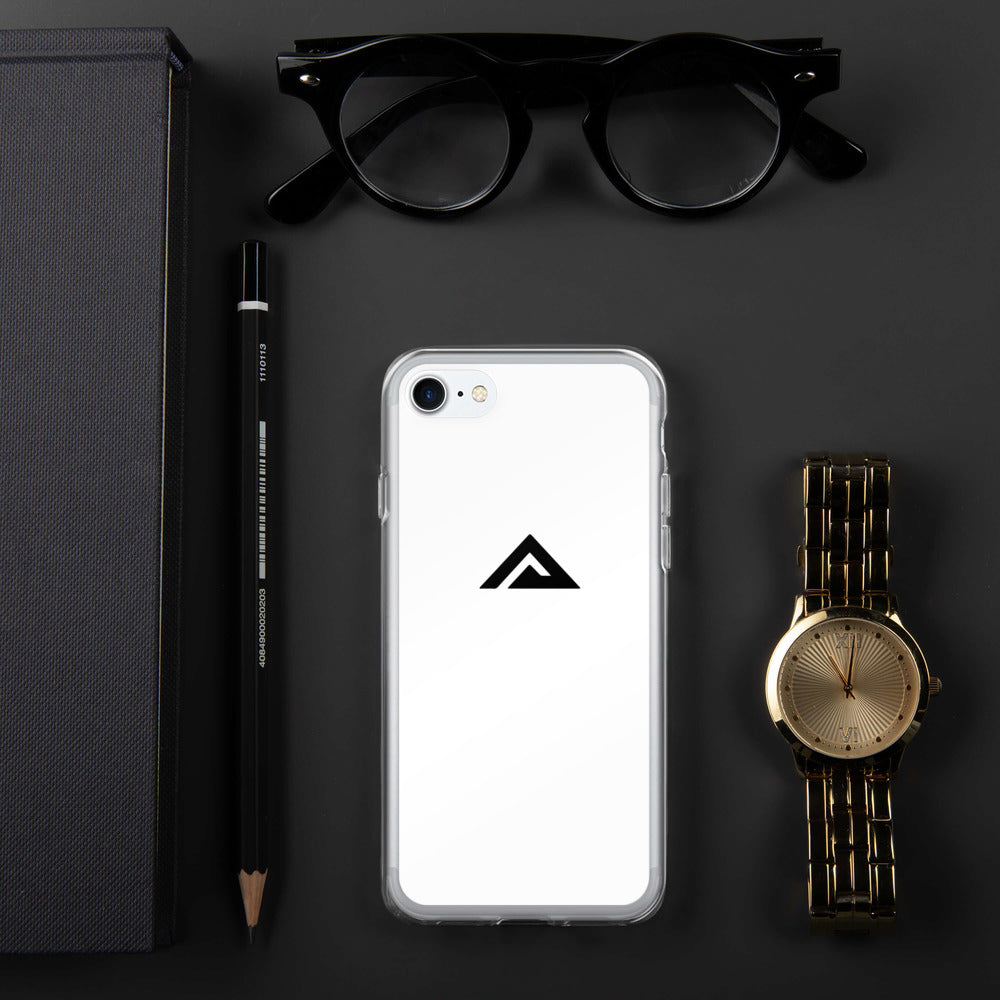 White iPhone Case - black logo