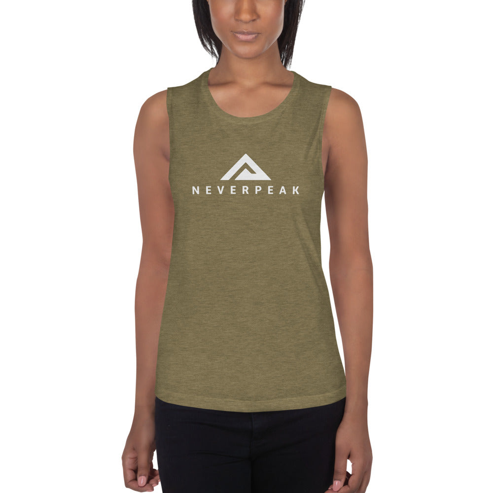 Ladies' Heather Olive Muscle Tank