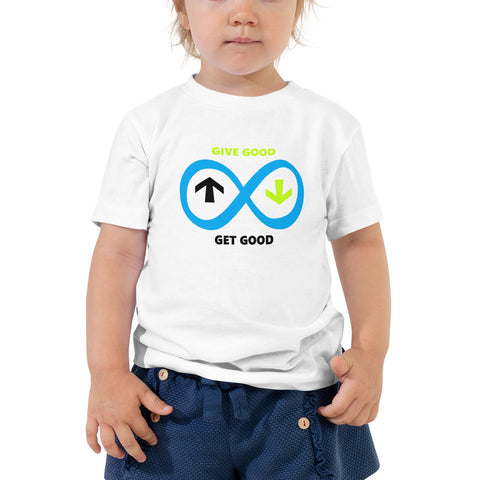 Toddler Blue Infinity Short Sleeve Tee