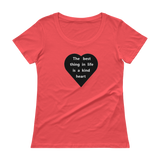 Kind Heart Ladies Scoopneck T-Shirt
