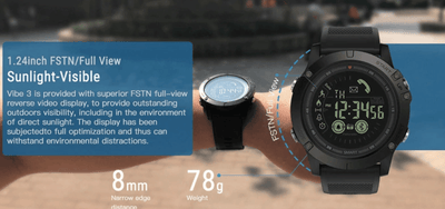 The Vibe 3 Rugged Smartwatch - Toynana.com