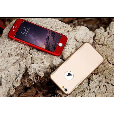 360 Degree Slim Tempered Glass Case For iPhone - Toynana.com